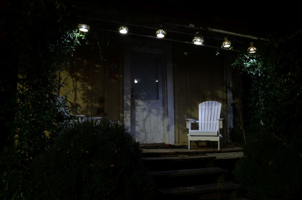 LED Bottle Gourd Lights on Lizzie's Porch
